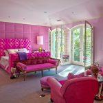 pembe genç kız yatak odası dekorasyonu