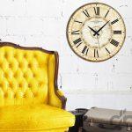 vintage tarzı dekoratif ahşap saat 2016