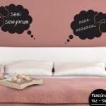 yatak odası eğlenceli yaz sil sticker