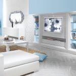 zebrano mobilya 2016 modern beyaz tv ünitesi