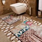 2016 renkli banyo halı ve paspasları