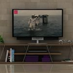 rafevi ceviz krom modern tv sehpası 79
