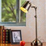 bronz endüstriyel masa lambası