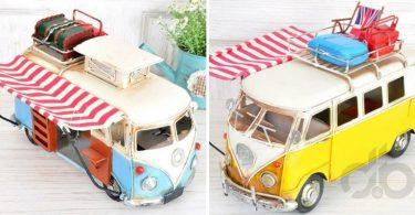 dekoratif nostaljik minibüsler