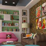 pop-art temalı ev dekorasyon örnekleri