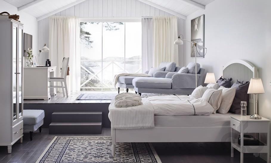 2017 ikea beyaz yatak odası