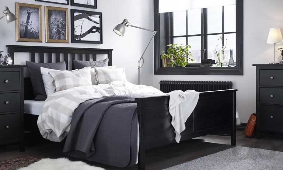 2017 ikea siyah yatak odası
