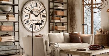 ahşap tasarım dev duvar saati