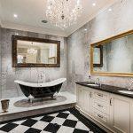 avizeli banyo dekorasyon fikirleri