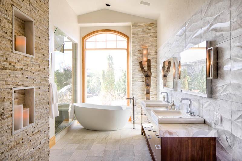 Etkileyici Ta Duvar Banyo Dekorasyonlar Dekorblog
