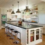 beyaz amerikan mutfak dekorasyonu