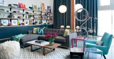 bisiklet dekorlu modern oturma odası