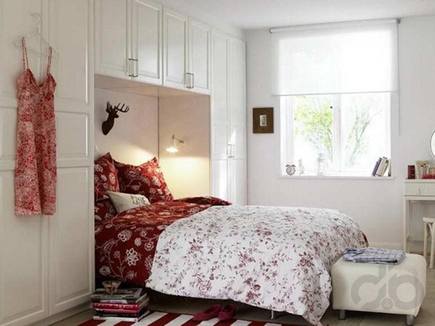 dar yatak odası dekorasyon örnekleri