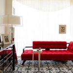 dekoratif kırmızı koltuk