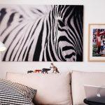 dekoratif zebra kanvas tablo modeli