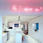 dinamik beyaz modern mutfak dekorasyonu