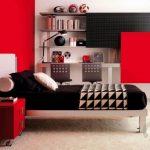 dinamik kırmızı genç odası