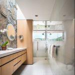 doğal taş kaplama modern banyo dekorasyonu