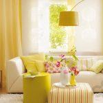 enerji veren sarı salon dekorasyonu