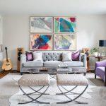 gri ile salonda modern ve zarif bir stil