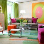 hem renkli hem modern bir salon