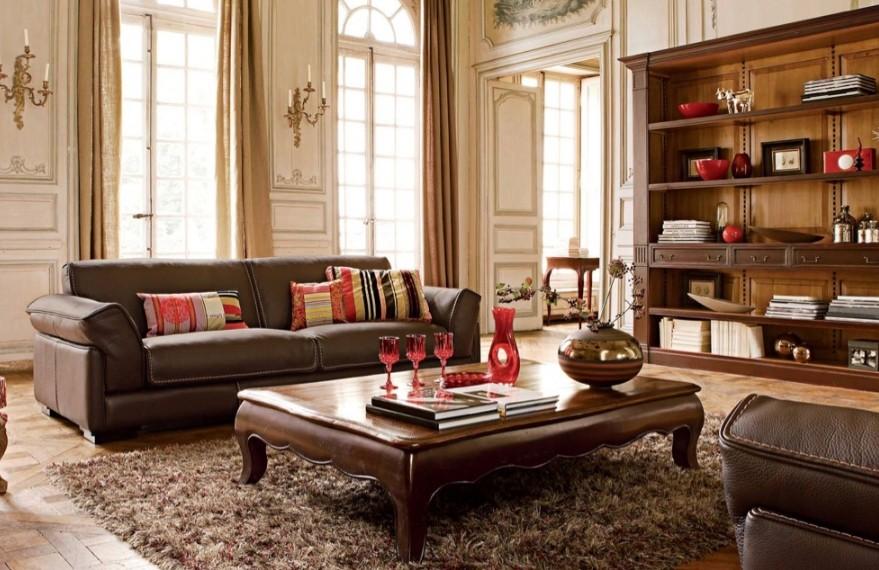 kahverengi salon dekorasyonu
