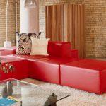 modern kırmızı oturma grubu
