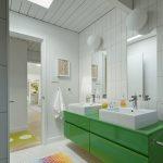 modern yeşil banyo dolabı