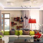 oturma odası renkli aksesuar modelleri