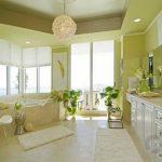 rahatlatıcı yeşil banyo dekorasyon fikirleri