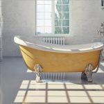 sarı estetik banyo küveti