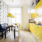 sıcak ve zarif sarı mutfak