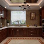u şeklinde amerikan mutfak dekorasyonu