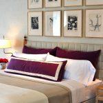 yatak odasında mor renk
