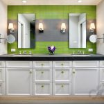 yeşil banyo dekorasyon modelleri