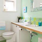 yeşil banyo dekorasyonu