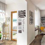 zebra desenli duvar yapıştırmaları