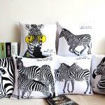 zebra desenli ev dekorları