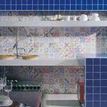 mutfaklara ayrı bir hava katan patchwork fayanslar