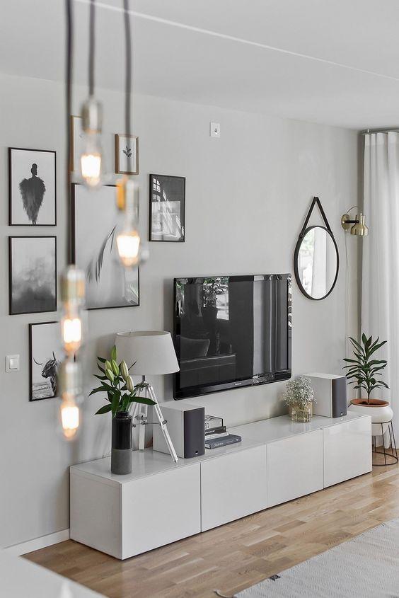 Çerçevelerle uyumlu TV Duvarı Modeli