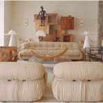 etkileyici bej rengi oturma odası