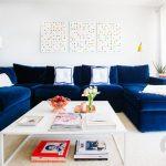 mavi L koltuk salon dekorasyonu 2017