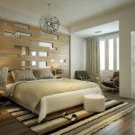 modern yatak odası aynalı duvar kaplama