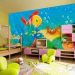 rengarenk modern çocuk odası dekorasyonu 2017