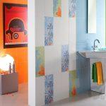 renkli fayanslar ile modern banyo dekorasyonu