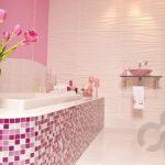 romantik pembe banyo dekorasyonu