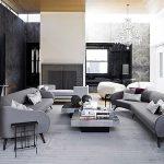 siyah dekore edilmiş apartman dairesi