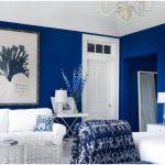 etkileyici mavi oturma odası