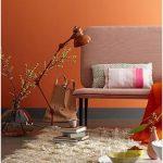 mat turuncu duvar rengi