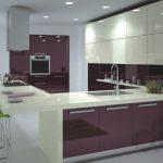 mürdüm rengi modern mutfak